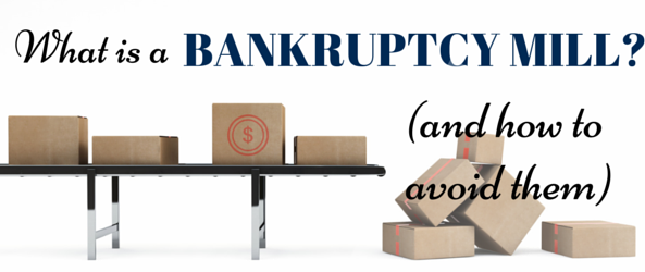 How to avoid a bankruptcy mill