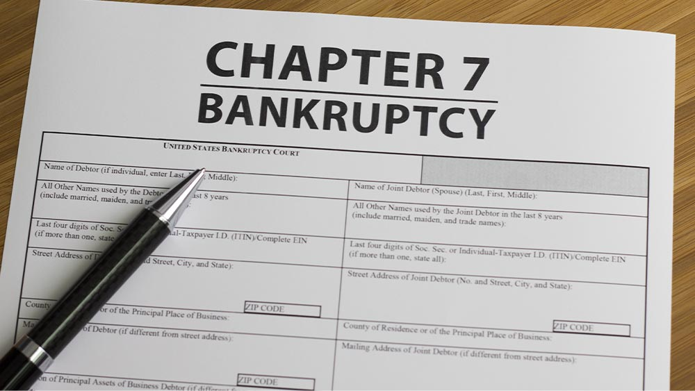 image of chapter 7 bankruptcy papers