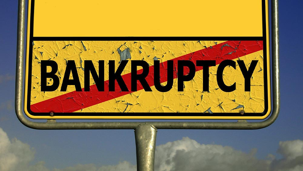 Image of Road Sign stating Bankruptcy