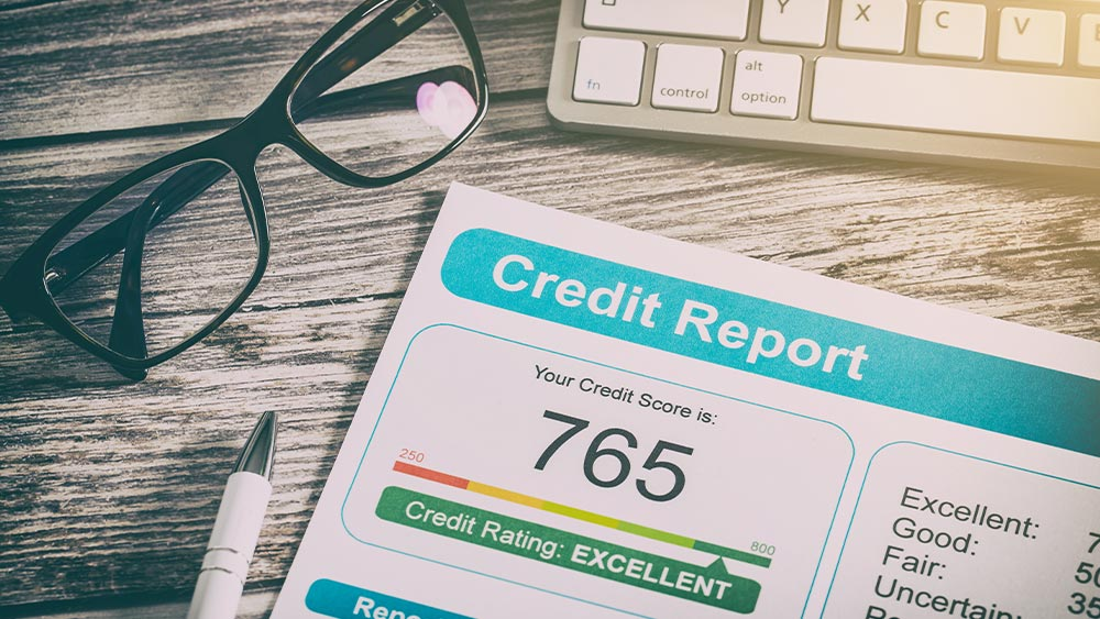 image of good credit report
